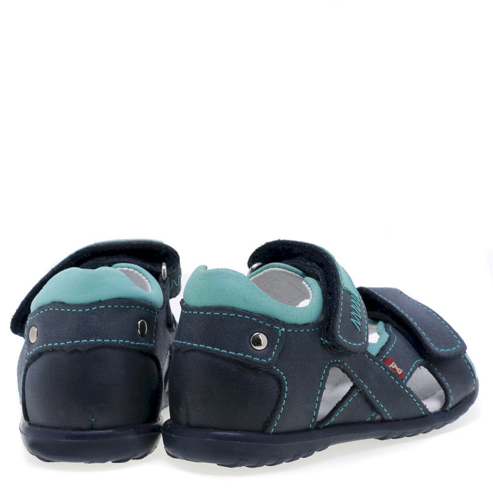 (2086) Emel navy turquoise first Sandals - MintMouse (Unicorner Concept Store)