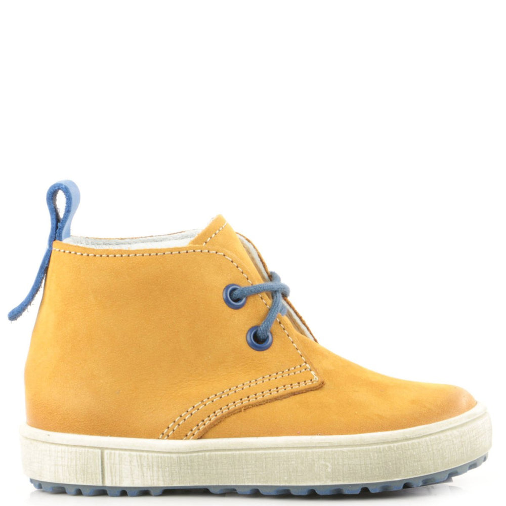 (2150-22) Emel yellow Lace Up shoes