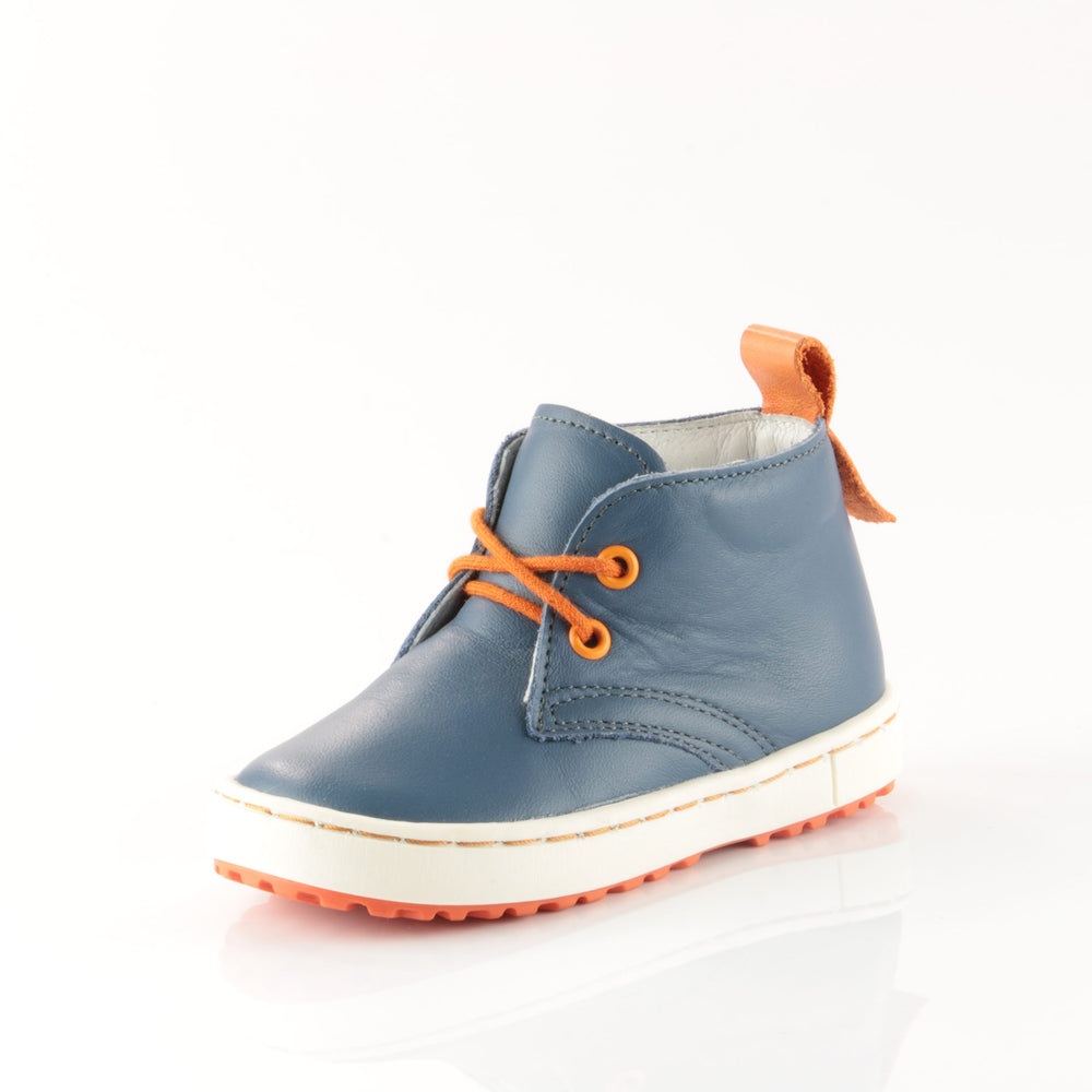 (2150-3/2242-3) Navy Orange Lace Up Trainers - MintMouse (Unicorner Concept Store)