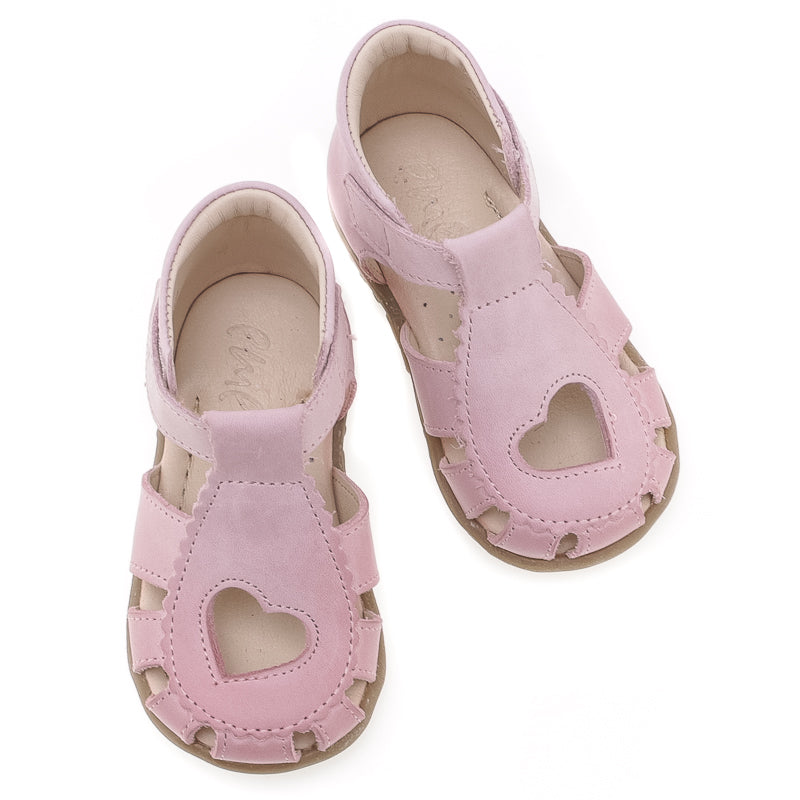 (2183A-3) Emel pink heart closed sandals - MintMouse (Unicorner Concept Store)