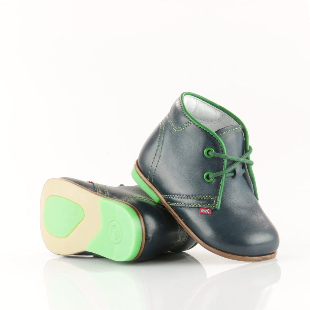 (2195-16) Emel Navy-Green Lace Up Shoes - MintMouse (Unicorner Concept Store)