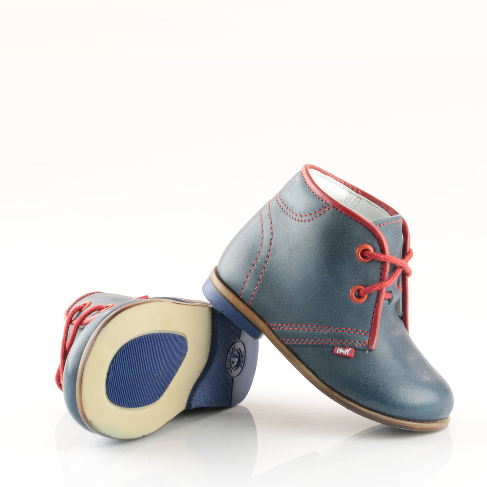 (2195-3) Emel Navy Red Lace Up Classics