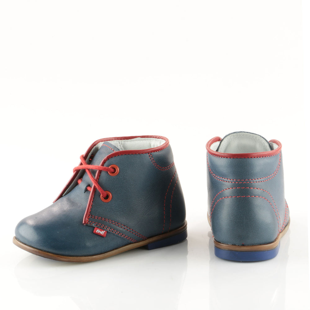 (2195-3) Emel Navy Red Lace Up Classics - MintMouse (Unicorner Concept Store)