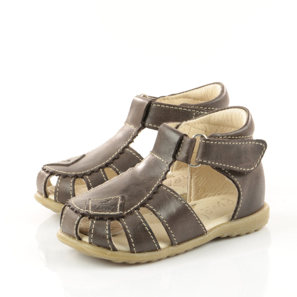 (2206-6) Emel dark brown closed sandals - MintMouse (Unicorner Concept Store)