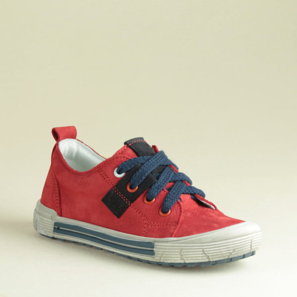 Red Low Lace Up Trainers (2251-8) Left sizes 28-29-30
