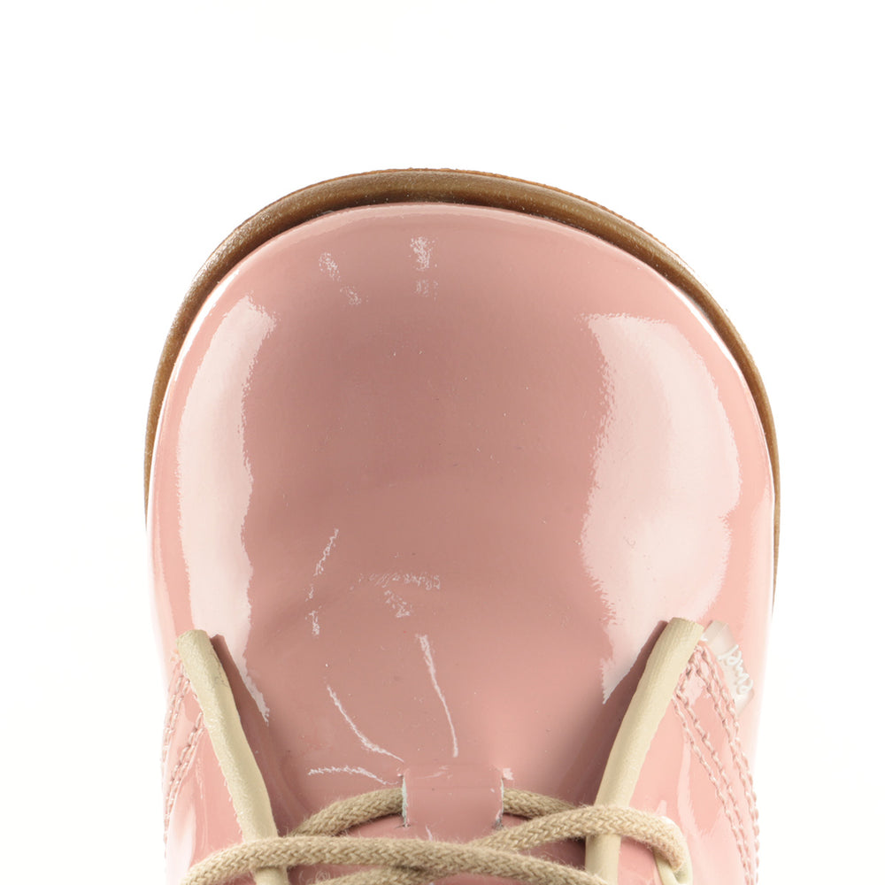 (2393-5) Emel Pink Laque Lace Up Shoes - MintMouse (Unicorner Concept Store)