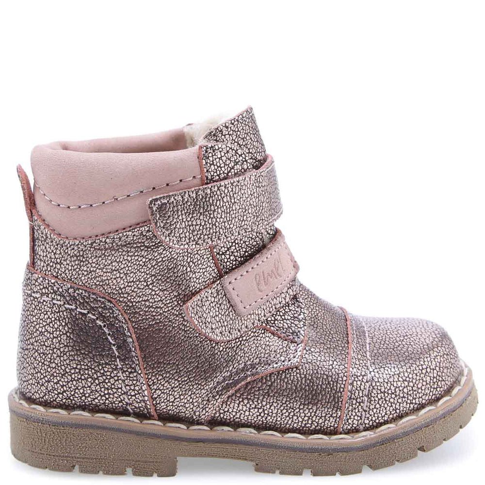 (2447A-18 / 2448A-18) Emel rose gold winter shoes