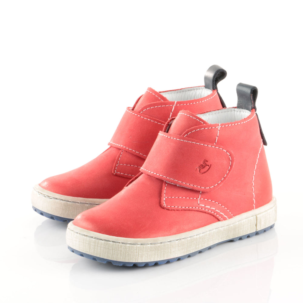 Red Velcro Trainers (2470-12 / 2489-12)