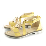 (2577-4) Emel velcro sandals  yellow flowers