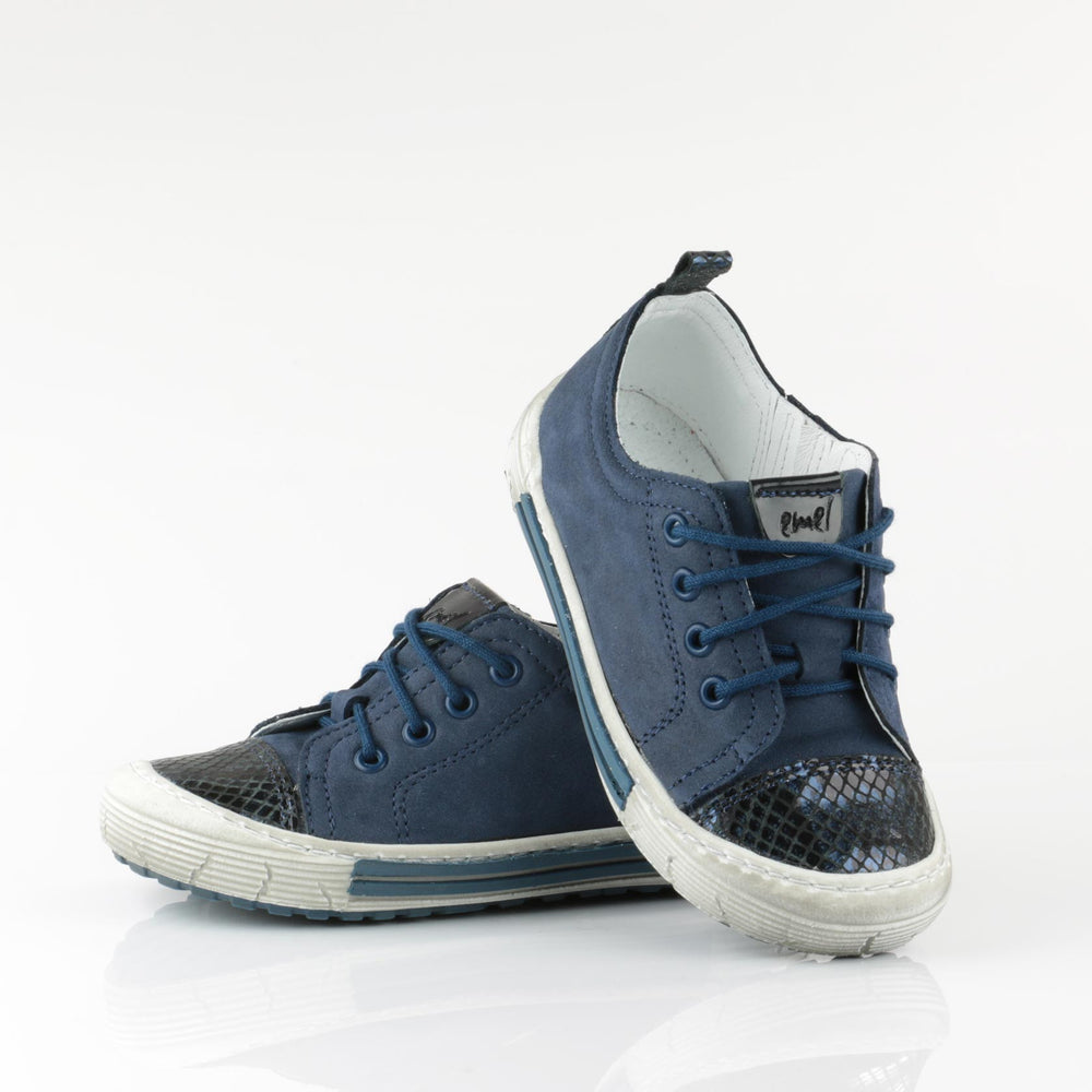 (2592-2) Navy Girl Low Lace Up Trainers - MintMouse (Unicorner Concept Store)