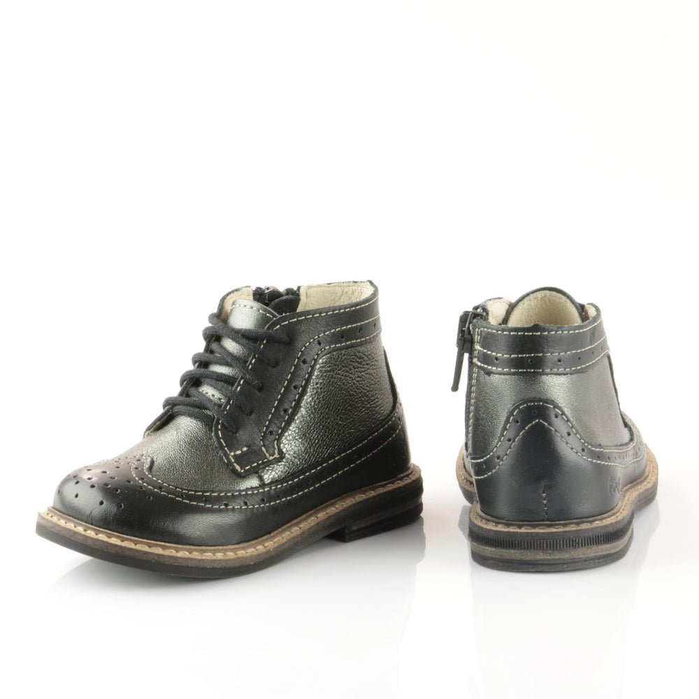 Emel Black Brogue Lace Up Boots (2608A-5) - MintMouse (Unicorner Concept Store)