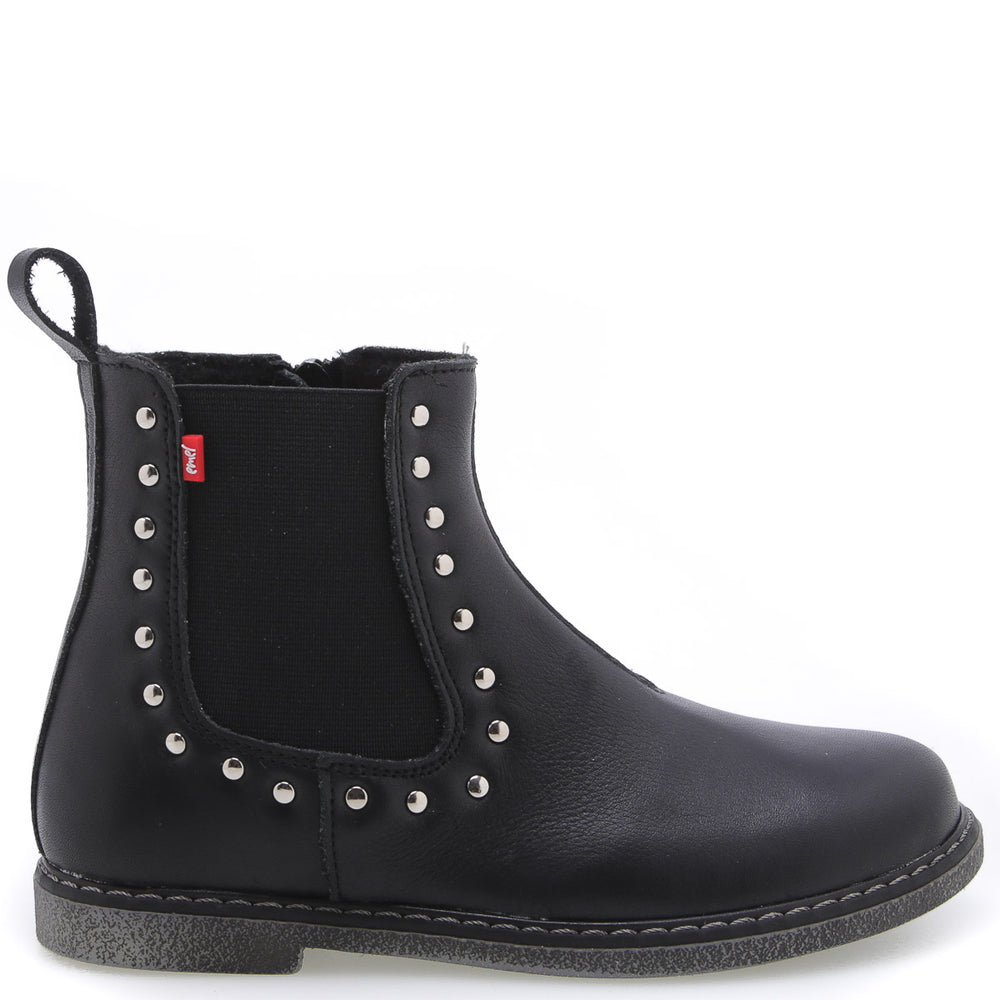 (2623B-1) Ankle Boot black studs