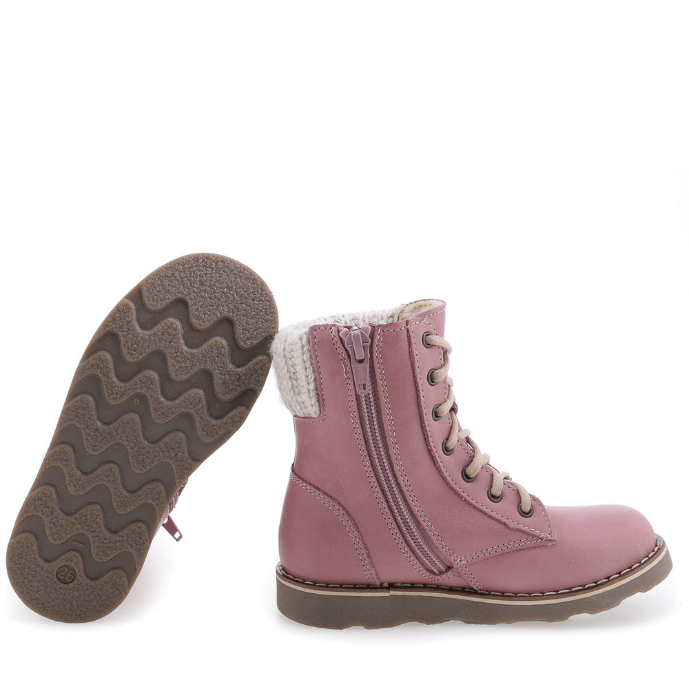 (2646-20W / 2526-20W) Emel dirty pink winter lace-up shoes