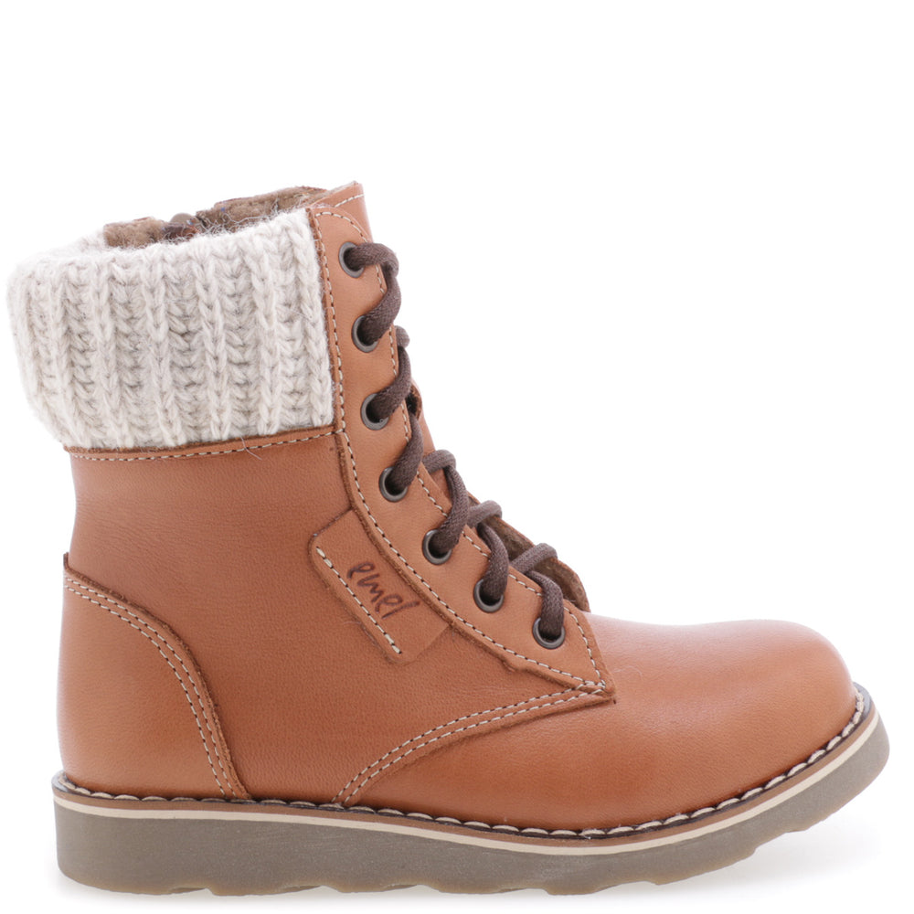 (2646-21 / 2526-21) emel camel lace up winter boot