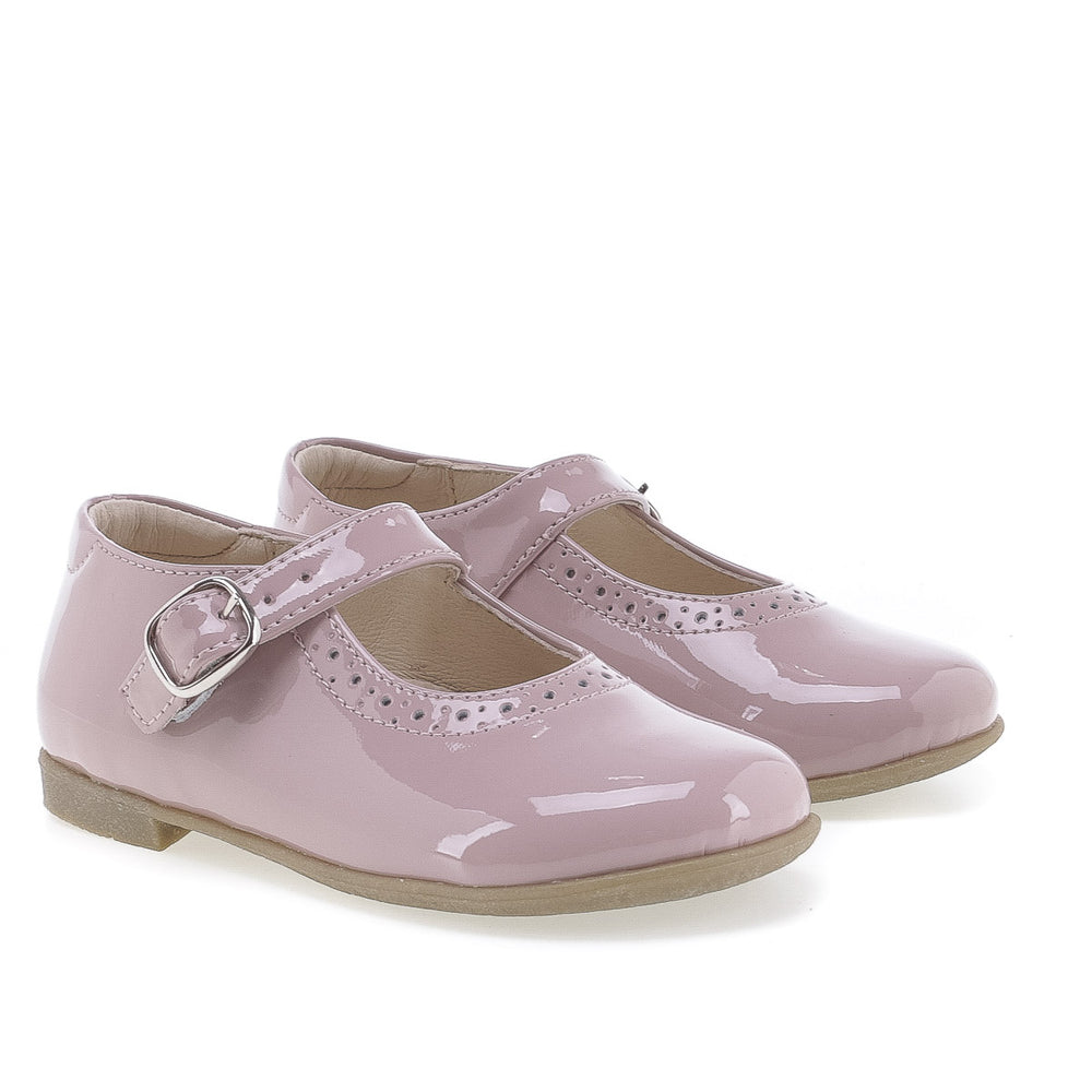 (2674-15) Emel balerina shoes - pink patent leather