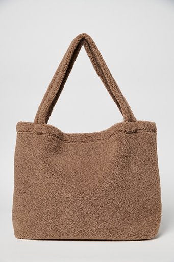 Chunky teddy mom-bag brown