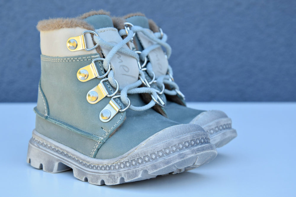 Emel Mint Lace Up Winter Boots (1997-12/K) - MintMouse (Unicorner Concept Store)