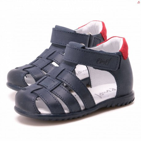 (1078-22) Emel Navy red closed sandals - MintMouse (Unicorner Concept Store)