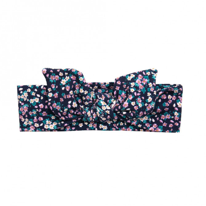 Headband - navy flowers