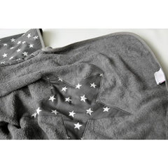 Bamboo Hooded Towel - Grey Star
