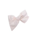 Hairclip bow - white