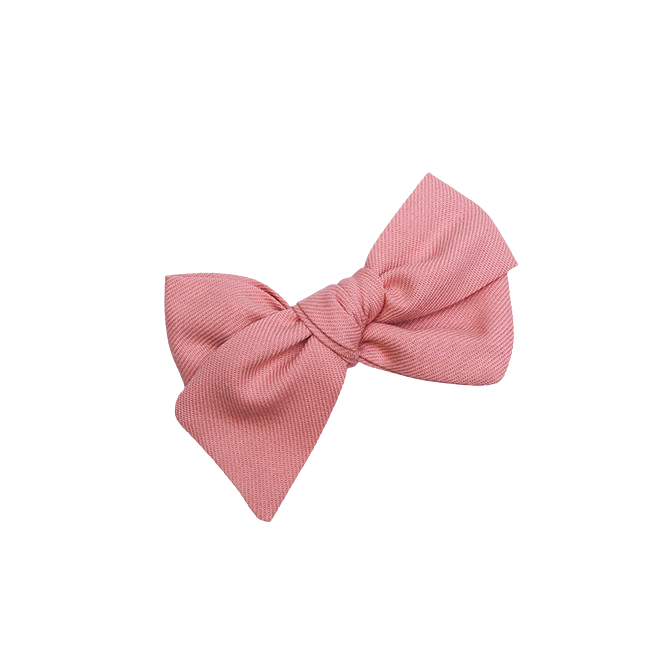 Hairclip bow - blush
