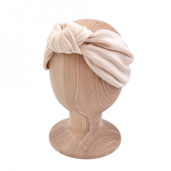 Knot headband - cream