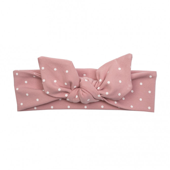 Headband - pink with dots