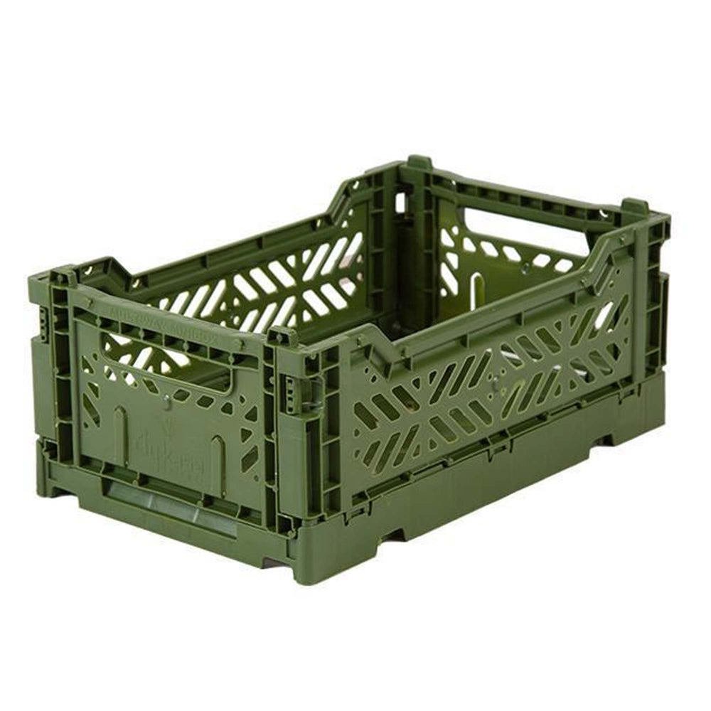Folding crate Minibox - Khaki