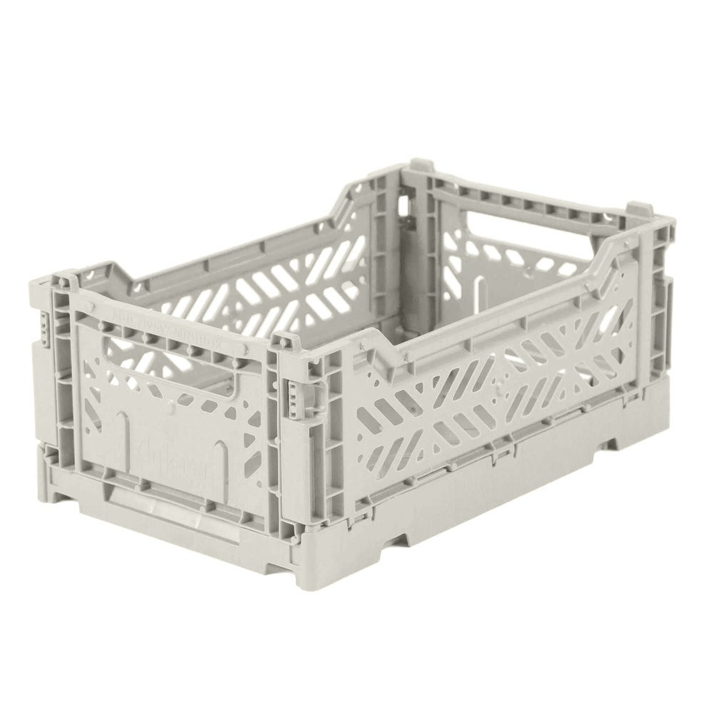 Folding crate Minibox - Light grey