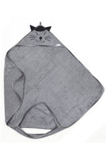 Bamboo Hooded Towel - Grey cat - MintMouse (Unicorner Concept Store)