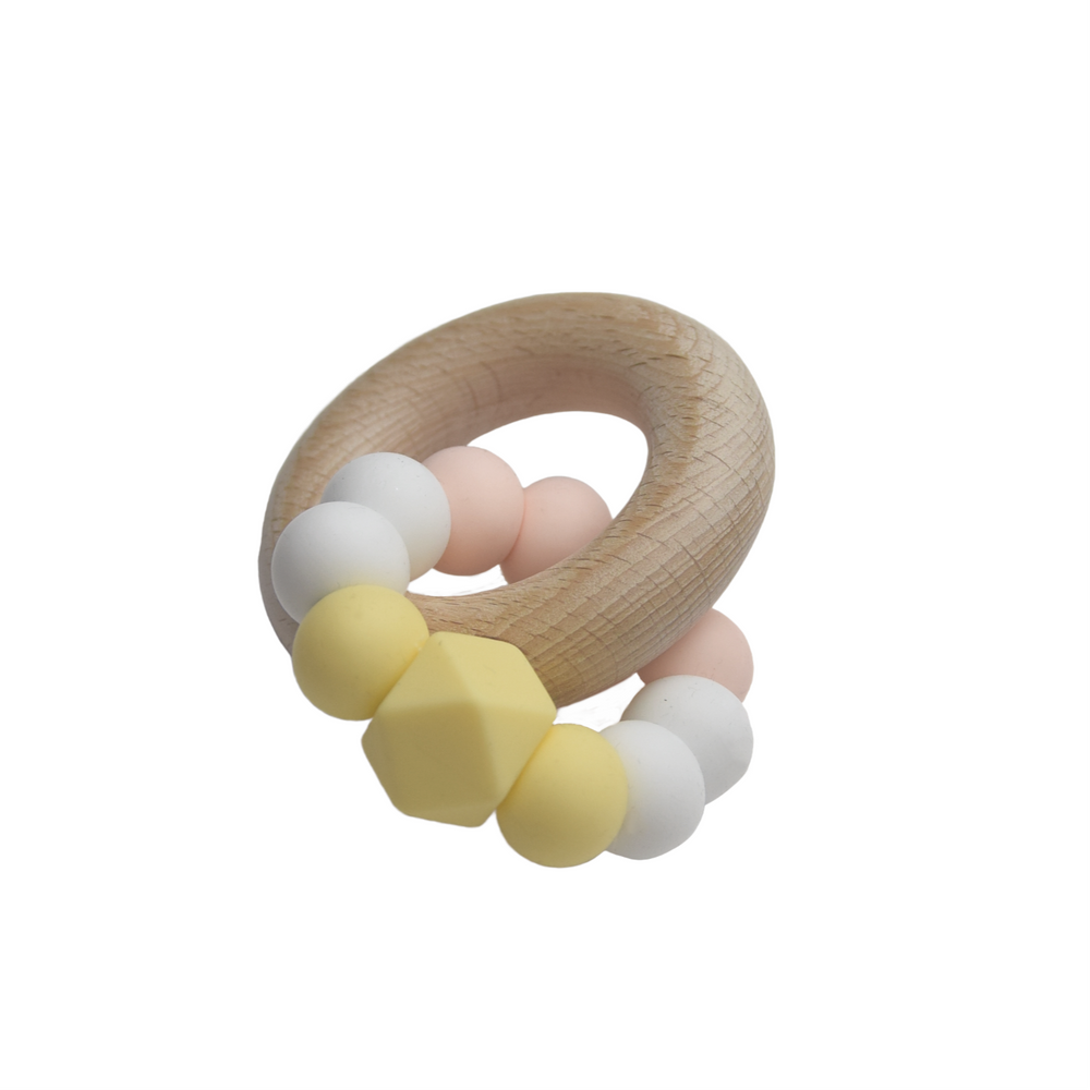 Silicone teether - pastel colours