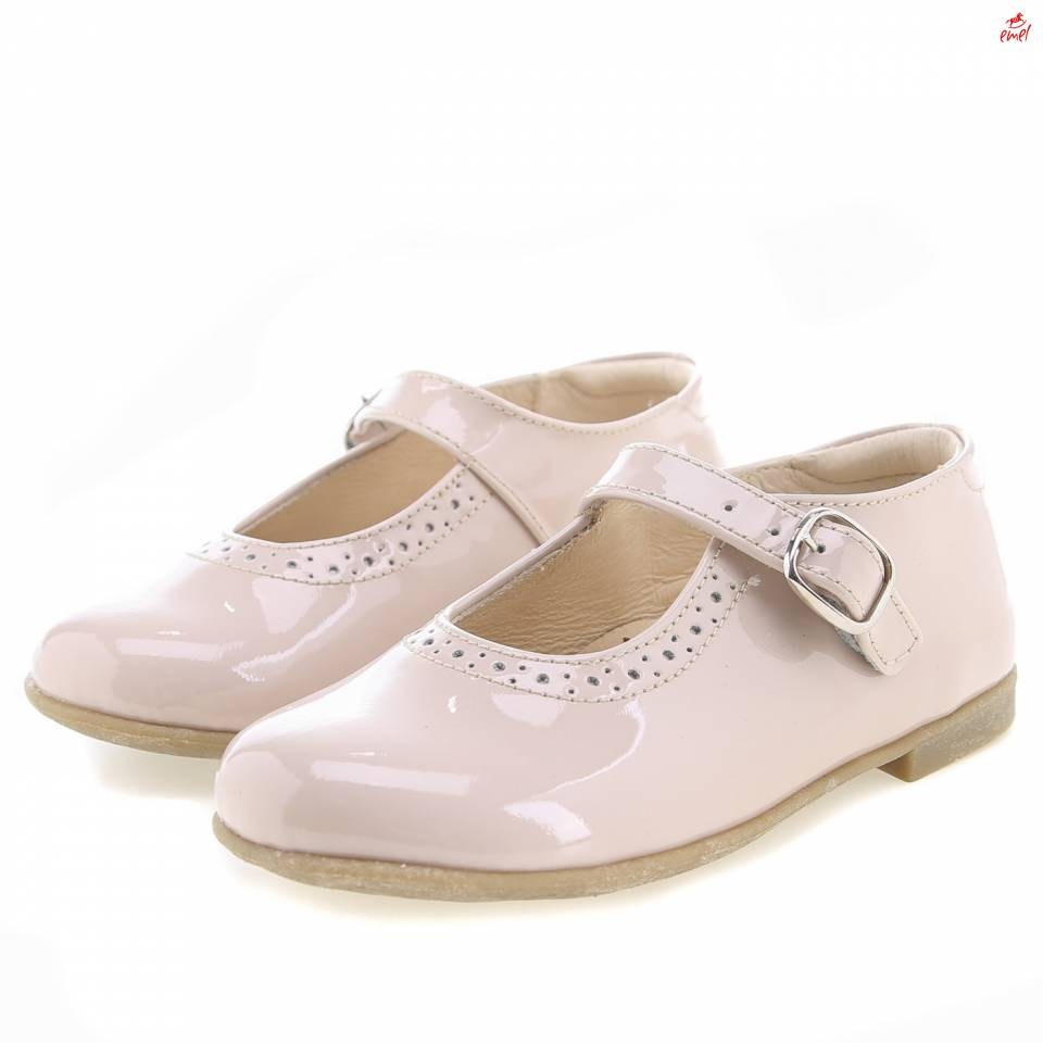 (2674-5) Emel balerina shoes - beige patent leather - MintMouse (Unicorner Concept Store)