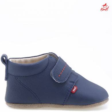 (N102-2) Pre-walker baby shoes - navy velcro