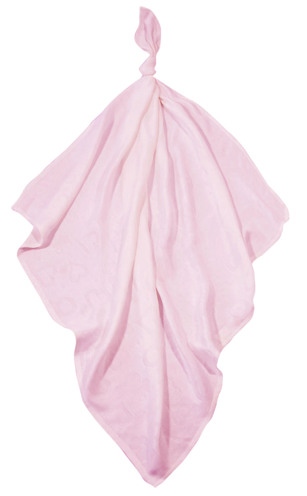 Bamboo swaddle blanket  pink