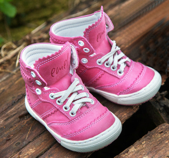 Emel Pink Lace Up High Trainers (1962-8)