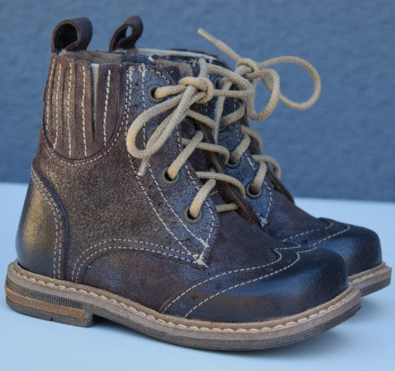 Emel Dark Brown Boots with zipper (2518-5) - MintMouse (Unicorner Concept Store)