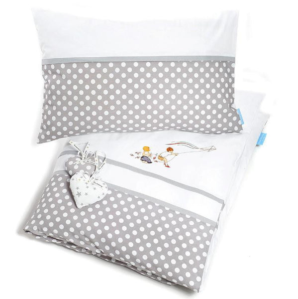 Bed linen set junior grey dots 49.90 - 50%