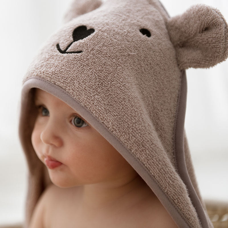 Bamboo hooded towel with bear ears - Latte