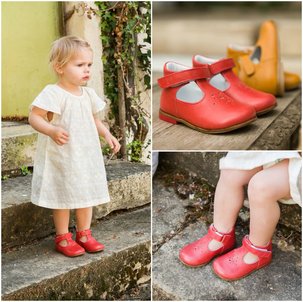 (2385-2) Emel Red balerina perforated - MintMouse (Unicorner Concept Store)