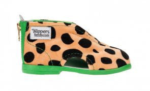 Cheetah Slippers Green