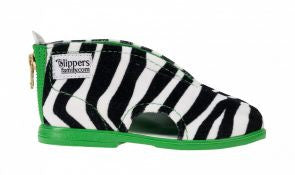 Zebra Slippers Green