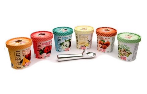 Six Gelato Pints with Premium Scooper