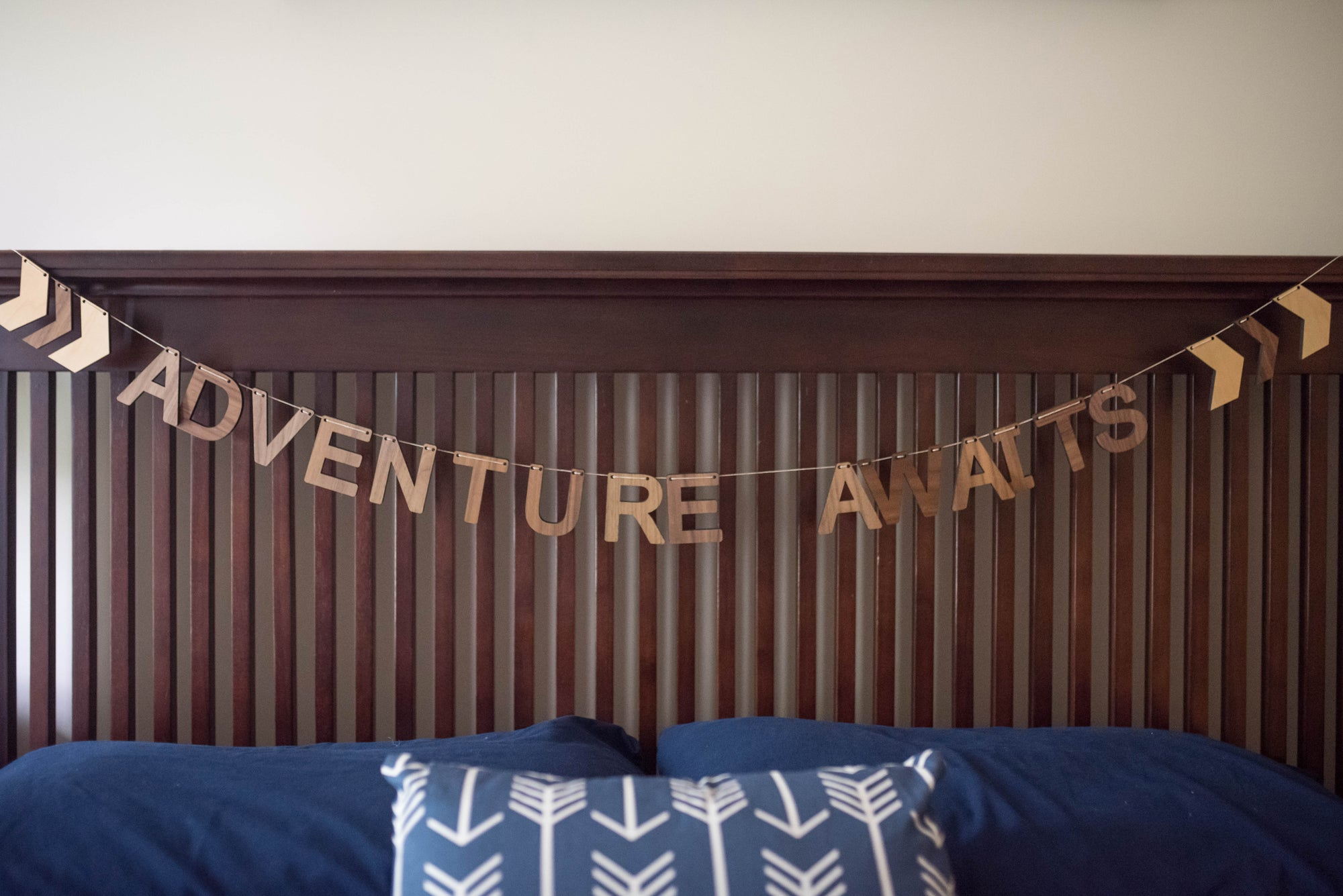 Adventure Awaits Decorative Wall Wooden Bunting from Smiling Tree Toys
