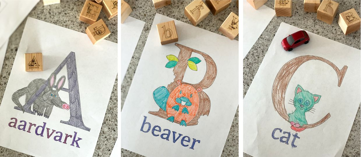Free Animal Alphabet Coloring Book