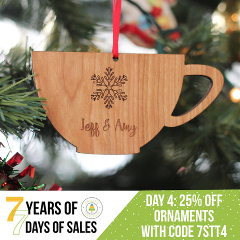 unique personalized wooden Christmas ornaments on sale