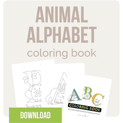 animal alphabet coloring book spelling homeschooling resources