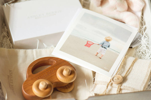 child photographer client gifts - wooden toy car