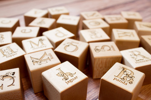 Animal Alphabet Blocks Handcrafted by Smiling Tree Toys