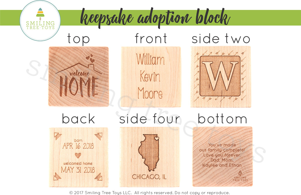 Keepsake Adoption Birth Block